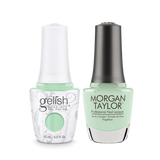 Gelish Gel Polish & Morgan Taylor Nail Lacquer, Mint Chocolate Chip  , 0.5oz, 1110085+ 50085