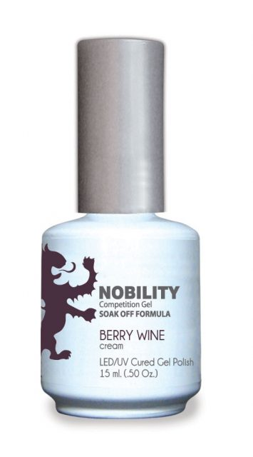 Nobility Gel Polish + Matching Lacquer Berry Wine