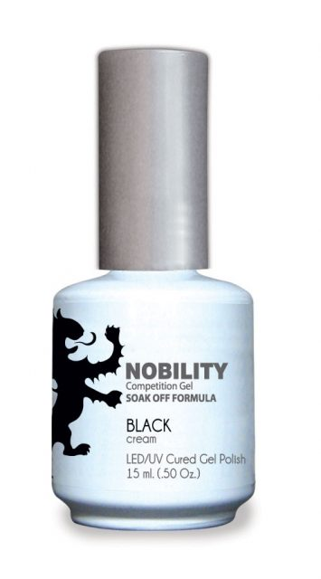 Nobility Gel Polish + Matching Lacquer Black