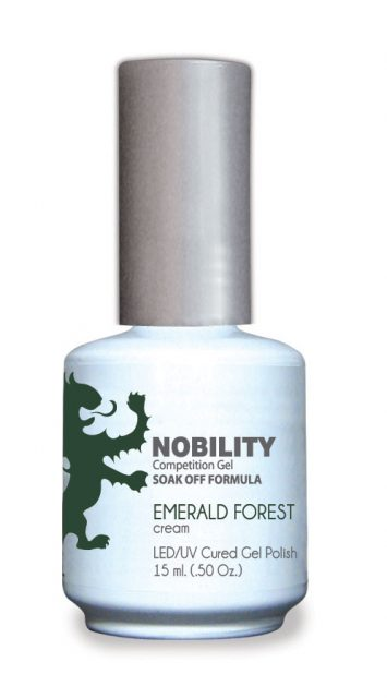 Nobility Gel Polish + Matching Lacquer Emerald Forest