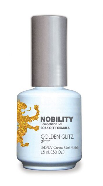 Nobility Gel Polish + Matching Lacquer Golden Glitz