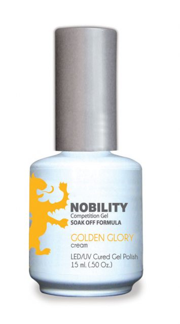 Nobility Gel Polish + Matching Lacquer Golden Glory