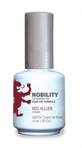 Nobility Gel Polish + Matching Lacquer Red Alluer