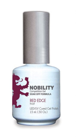 Nobility Gel Polish + Matching Lacquer Red Edge