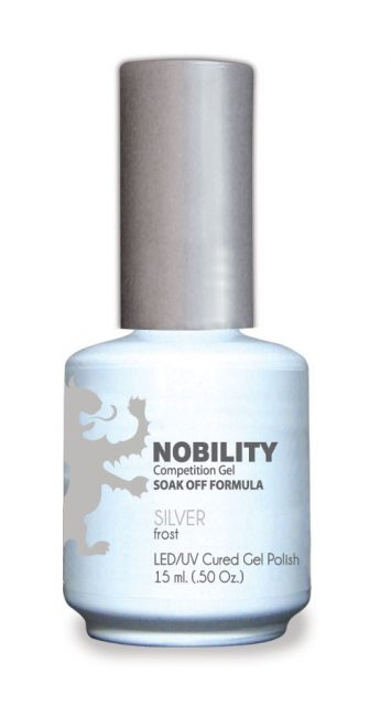 Nobility Gel Polish + Matching Lacquer Silver