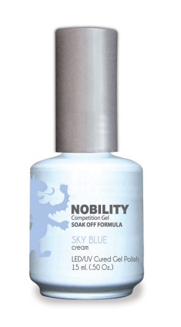Nobility Gel Polish + Matching Lacquer Sky Blue