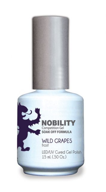 Nobility Gel Polish + Matching Lacquer Wild Grapes