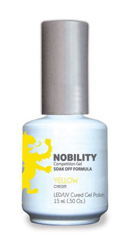 Nobility Gel Polish + Matching Lacquer Yellow