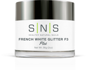 SNS Dipping Powder, 03, French White Glitter F3, 2oz KK