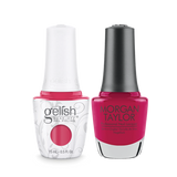 Gelish Gel Polish & Morgan Taylor Nail Lacquer, Prettier In Pink, 0.5oz, 1110022 + 50022