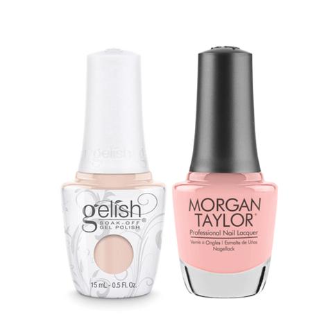 Gelish Gel Polish & Morgan Taylor Nail Lacquer, Prim-rose and Proper, 0.5oz, 1110203 + 50203