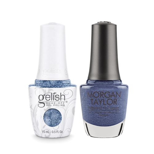 Gelish Gel Polish & Morgan Taylor Nail Lacquer, Rhythm and Blues  , 0.5oz, 1110093 + 50093