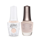 Gelish Gel Polish & Morgan Taylor Nail Lacquer, Tan My Hide, 0.5oz, 1110187 + 50187