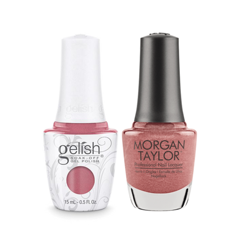 Gelish Gel Polish & Morgan Taylor Nail Lacquer, Tex'as Me Later, 0.5oz, 1110186 + 50186