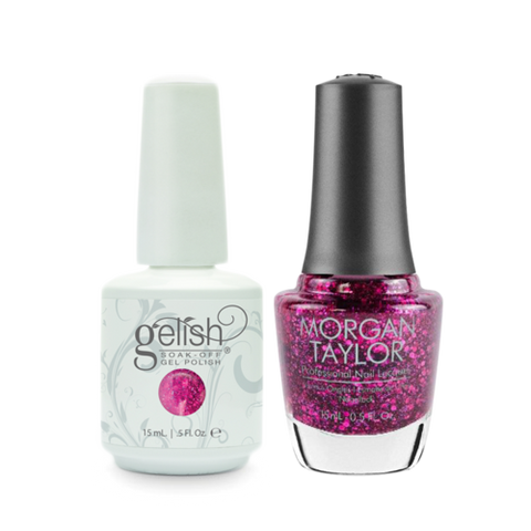 Gelish Gel Polish & Morgan Taylor Nail Lacquer, Too Tough Too Be Sweet / To Rule or Not to Rule , 0.5oz, 01856+ 50102