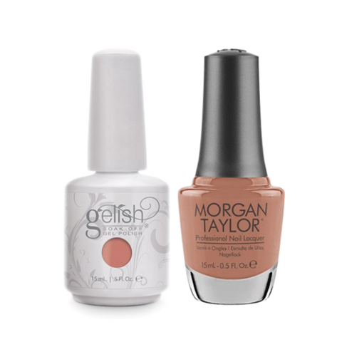 Gelish Gel Polish & Morgan Taylor Nail Lacquer, Up In The Air-heart  , 0.5oz, 1100067 + 50226