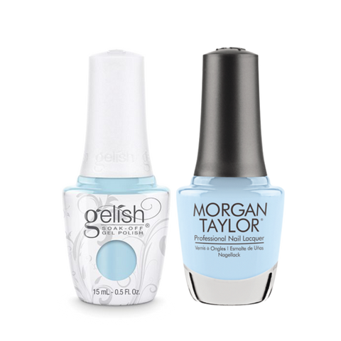 Gelish Gel Polish & Morgan Taylor Nail Lacquer, Water Baby  , 0.5oz, 1110092 + 50092