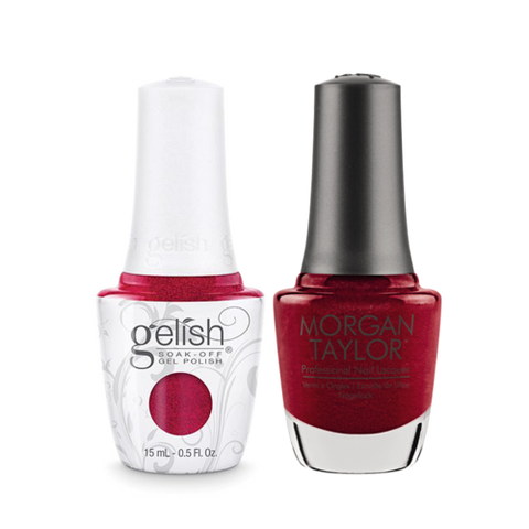 Gelish Gel Polish & Morgan Taylor Nail Lacquer, Wonder Woman, 0.5oz, 1110031 + 50031