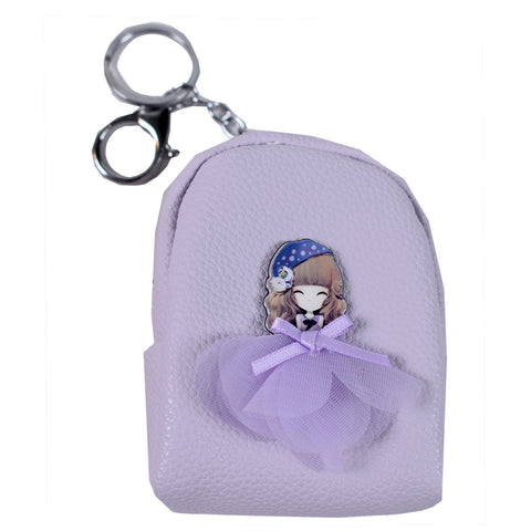 ACC-3057- Purple Small Coin Purse Keychain - All Bags Online