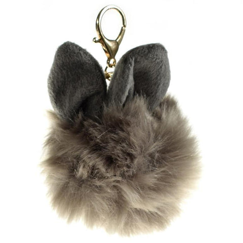 ACC-00009  - Taupe Pom Pom with ears - All Bags Online