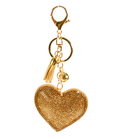 ACC-00013 - Golden Heart Keychain - All Bags Online