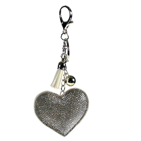 ACC-00013 - Silver Heart Keychain - All Bags Online