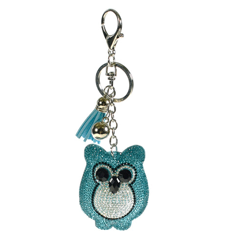ACC-00013 - Blue and Silver Owl Keychain - All Bags Online