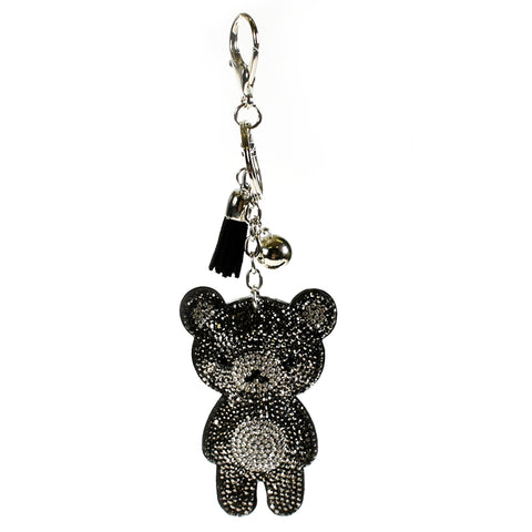ACC-00013 - Black and Silver Bear Keychain - All Bags Online