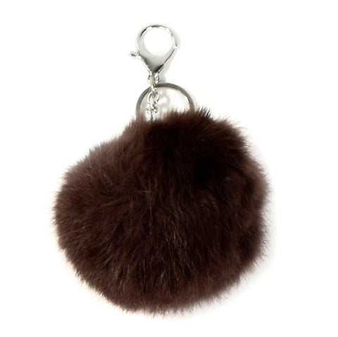 ACC-00025 - Brown Pom Pom Keychain - All Bags Online