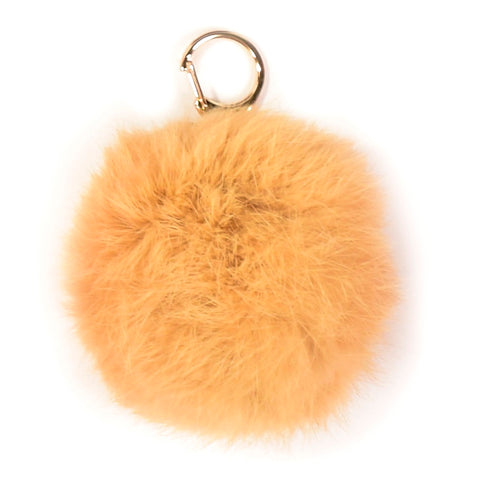 ACC-00014 - Light Brown Pom Pom Keychain - All Bags Online