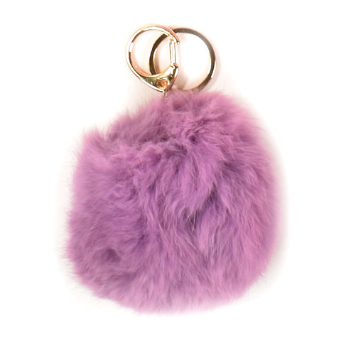 ACC-00014 - Purple Pom Pom Keychain - All Bags Online