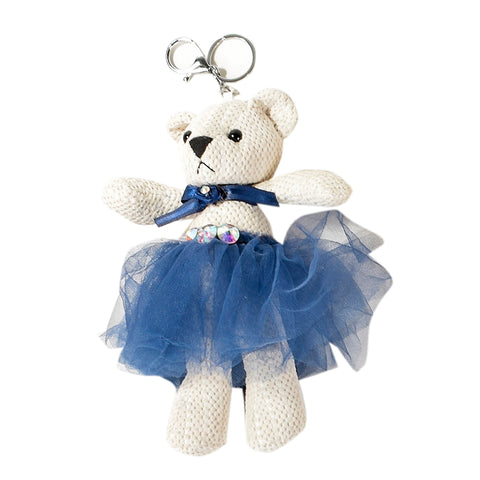 ACC-00018 - Blue & White Teddy Keychain - All Bags Online