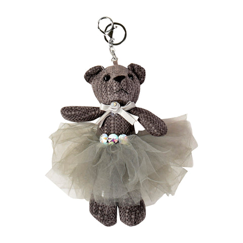 ACC-00018 - Taupe Teddy Keychain - All Bags Online