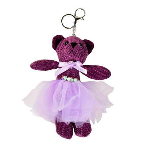 ACC-00018 - Purple Teddy Keychain - All Bags Online