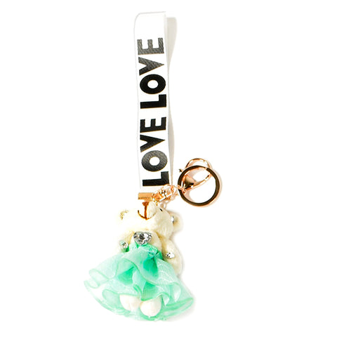 ACC-00021 - White & Green Keychain - All Bags Online