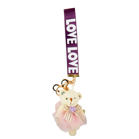 ACC-00021- Purple and pink Keychain - All Bags Online