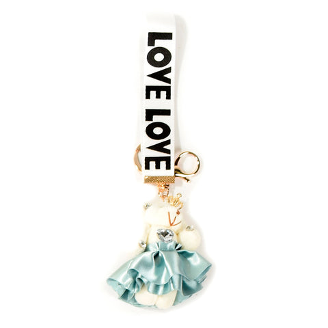 ACC-00021 - White & green Love Keychain - All Bags Online