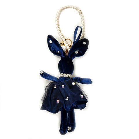 ACC-00022 - Navy velvet Rabbit Keychain - All Bags Online