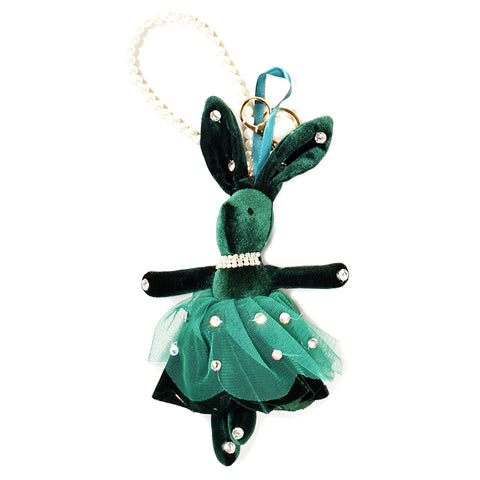 ACC-00022 - Green velvet Rabbit Keychain - All Bags Online