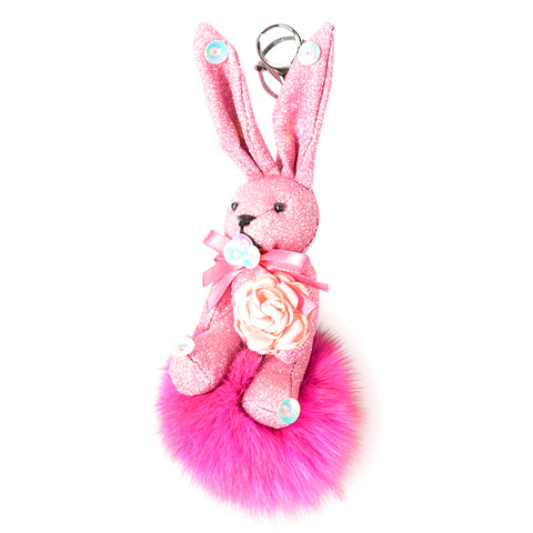 ACC-00024 - Pink Rabbit Pom Pom - All Bags Online