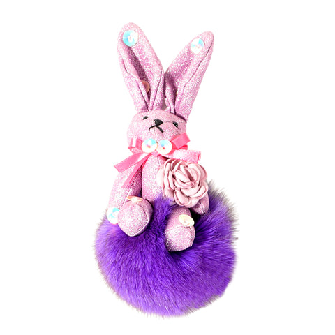 ACC-00024 - Purple Rabbit Pom Pom - All Bags Online