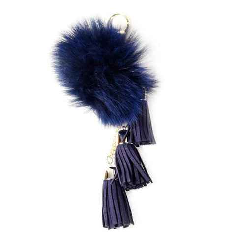 ACC-00025 - Navy Pom Pom with Tassels - All Bags Online