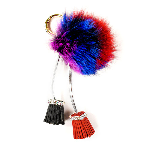ACC-00026 Colourful Pom Pom with Tassels - All Bags Online