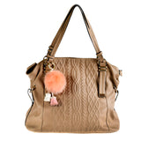 ACC-00026 - Peach Pom Pom with Tassels - All Bags Online
