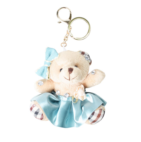 ACC-5008 - Cream Teddy Keychain - All Bags Online