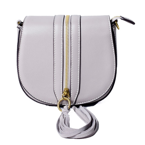Grey Sling Bag with Tassel – AB-H-7637 - All Bags Online