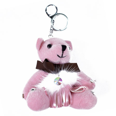 Pink Teddy Keychain AB-ACC-4092 - All Bags Online