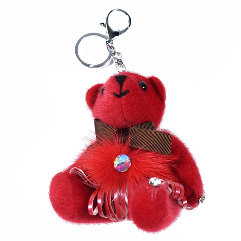 Red Teddy Keychain AB-ACC-4092 - All Bags Online