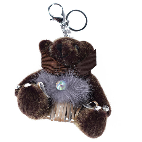 Brown Teddy Keychain AB-ACC-4092 - All Bags Online