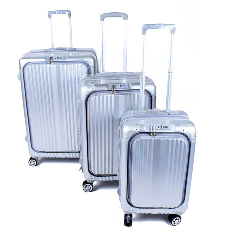 Silver Luggage Set - PA-L-5001 - All Bags Online